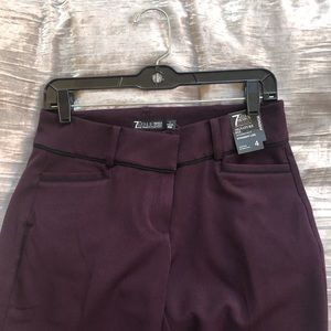 NWT New York & company burgundy straight leg pants